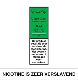 Exclucig Exclucig Green Label E-liquid Menthol Tobacco 18 mg Nicotine