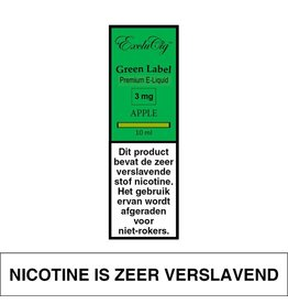 Exclucig Exclucig Green Label E-liquid Apple 3 mg Nicotine