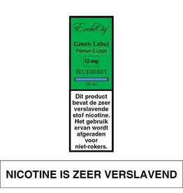 Exclucig Exclucig Green Label E-liquid Blueberry 12 mg Nicotine