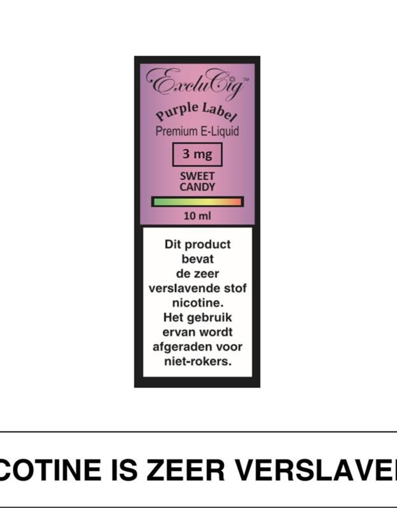 Exclucig Exclucig Purple Label E-Liquid Sweet Candy 3 mg Nicotine