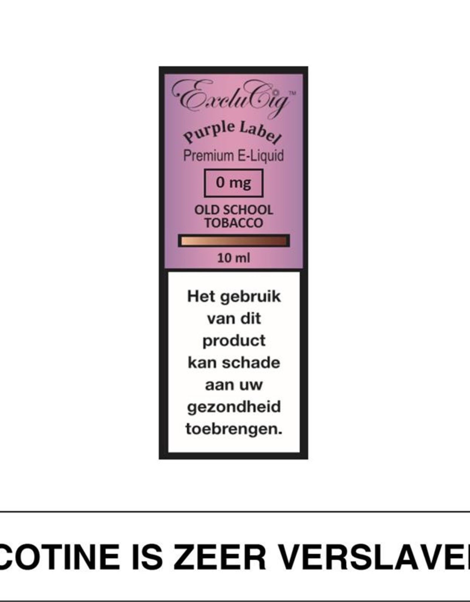 Exclucig Exclucig Purple Label E-Liquid Old School Tobacco 0 mg Nicotine