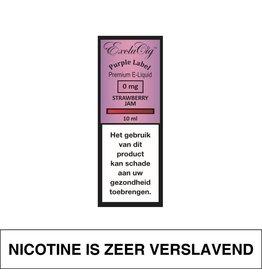 Exclucig Exclucig Purple Label E-Liquid Strawberry Jam 0 mg Nicotine