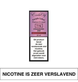 Exclucig Exclucig Purple Label E-Liquid Strawberry Jam 3 mg Nicotine