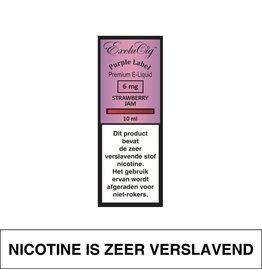 Exclucig Exclucig Purple Label E-Liquid Strawberry Jam 6 mg Nicotine
