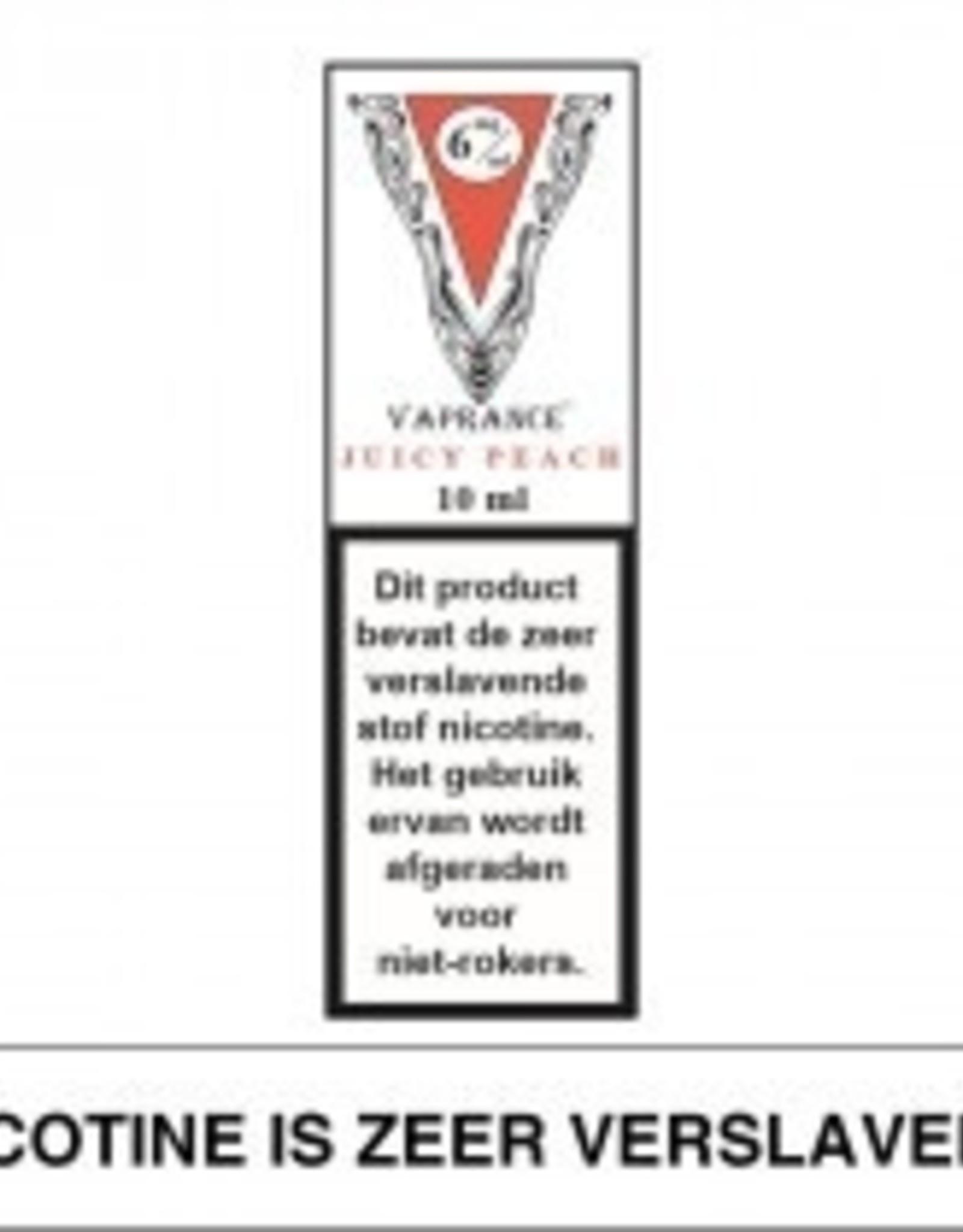 Vaprance Vaprance White Label Juicy Peach 6 mg Nicotine