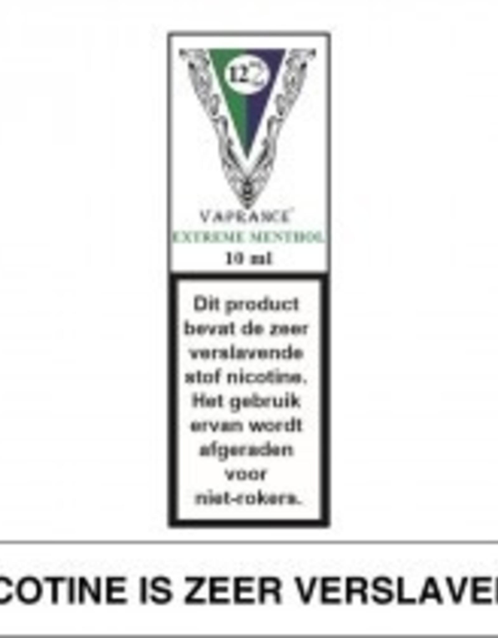 Vaprance Vaprance White Label Extreme Menthol 12 mg Nicotine