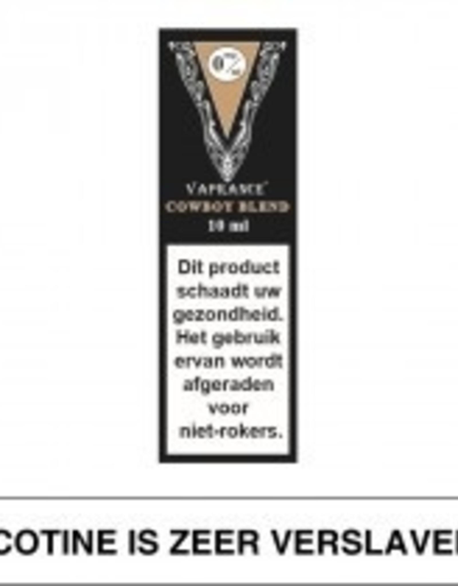 Vaprance Vaprance Black Label Cowboy Blend 0 mg Nicotine