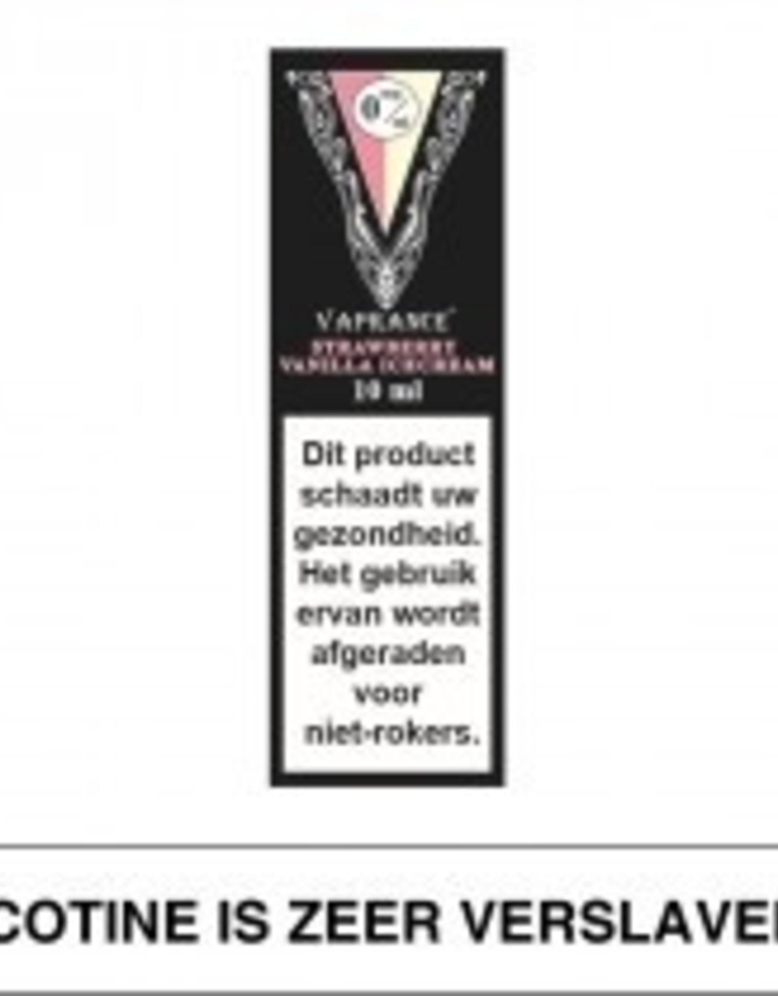 Vaprance Vaprance Black Label Strawberry Vanilla Icecream 0 mg Nicotine