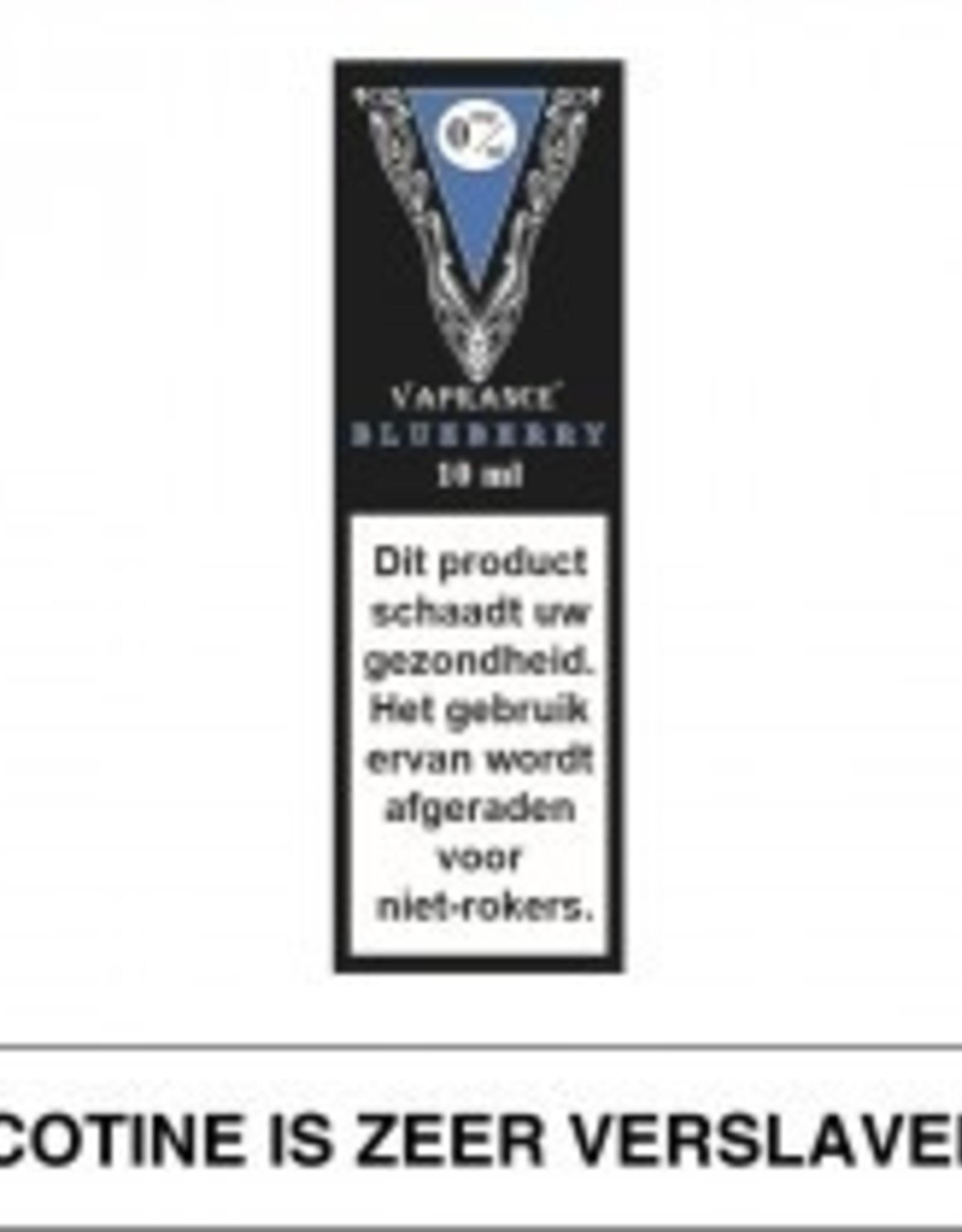 Vaprance Vaprance Black Label Blueberry 0 mg Nicotine