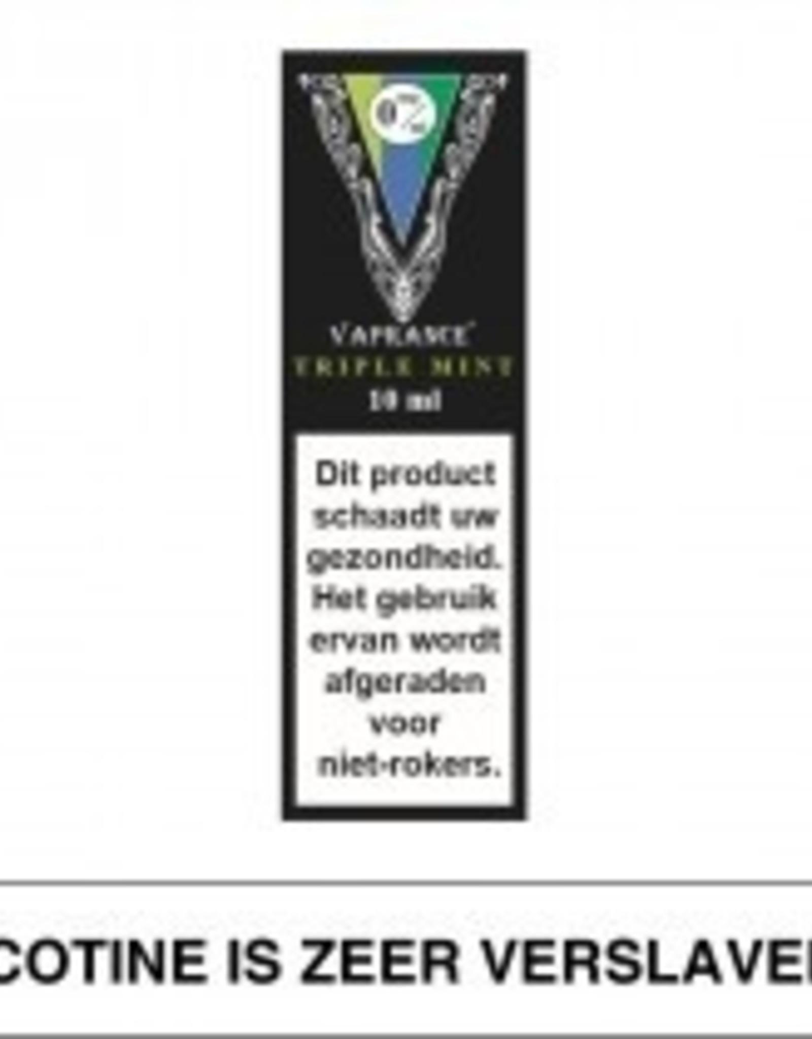 Vaprance Vaprance Black Label Triple Mint 0 mg Nicotine