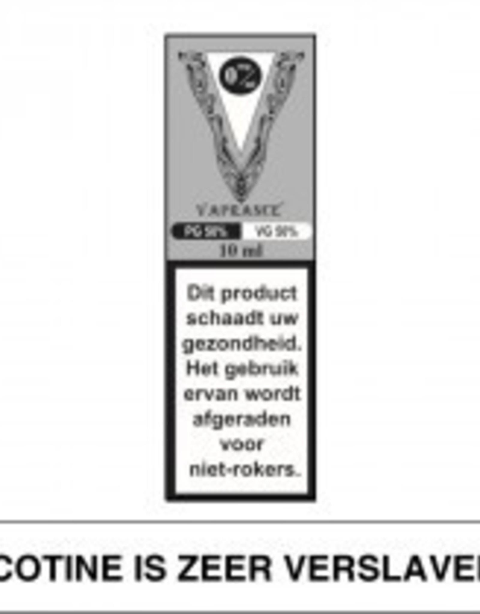 Vaprance Vaprance Base Label PG-VG 50-50 0 mg Nicotine