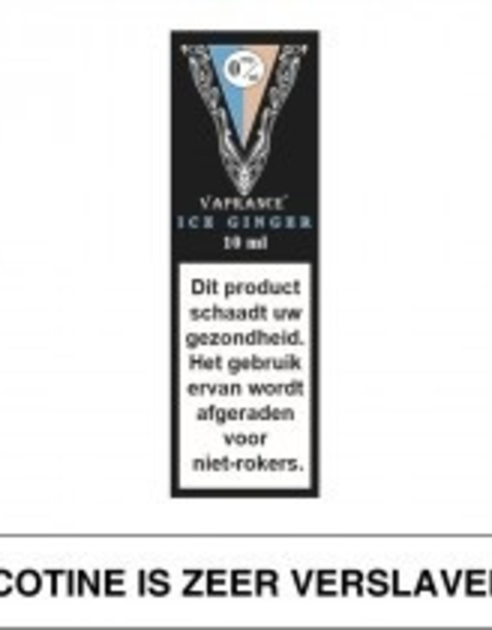 Vaprance Vaprance Black Label Ice Ginger 0 mg Nicotine