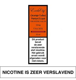 Exclucig Exclucig Orange Label E-liquid USA Mix 15 mg Nicotinezout