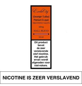 Exclucig Exclucig Orange Label E-liquid Mall Blend 10 mg Nicotinezout