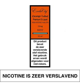 Exclucig Exclucig Orange Label E-liquid Mint 15 mg Nicotinezout