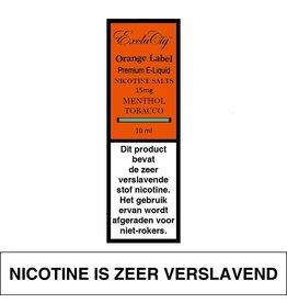 Exclucig Exclucig Orange Label E-liquid Menthol Tobacco 15 mg Nicotinezout