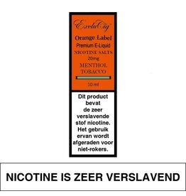 Exclucig Exclucig Orange Label E-liquid Menthol Tobacco 20 mg Nicotinezout