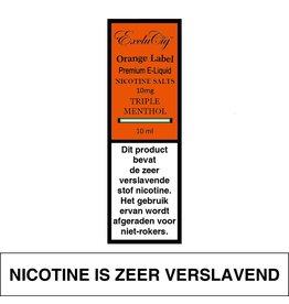 Exclucig Exclucig Orange Label E-liquid Triple Menthol 10 mg Nicotinezout