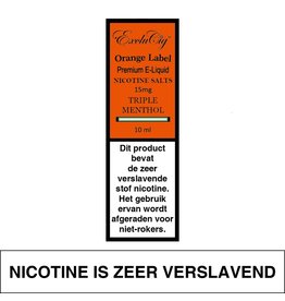 Exclucig Exclucig Orange Label E-liquid Triple Menthol 15 mg Nicotinezout