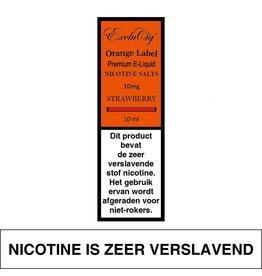 Exclucig Exclucig Orange Label E-liquid Strawberry 10 mg Nicotinezout