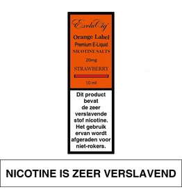 Exclucig Exclucig Orange Label E-liquid Strawberry 20 mg Nicotinezout