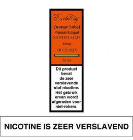 Exclucig Exclucig Orange Label E-liquid Fruit Mix 10 mg Nicotinezout