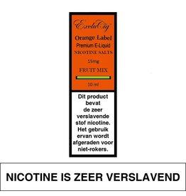 Exclucig Exclucig Orange Label E-liquid Fruit Mix 15 mg Nicotinezout