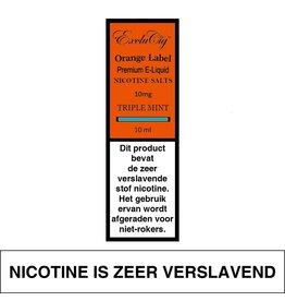 Exclucig Exclucig Orange Label E-liquid Triple Mint 10 mg Nicotinezout