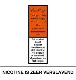 Exclucig Exclucig Orange Label E-liquid Raspberry 10 mg Nicotinezout
