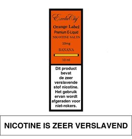 Exclucig Exclucig Orange Label E-liquid Banana 10 mg Nicotinezout