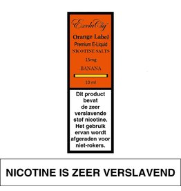 Exclucig Exclucig Orange Label E-liquid Banana 15 mg Nicotinezout