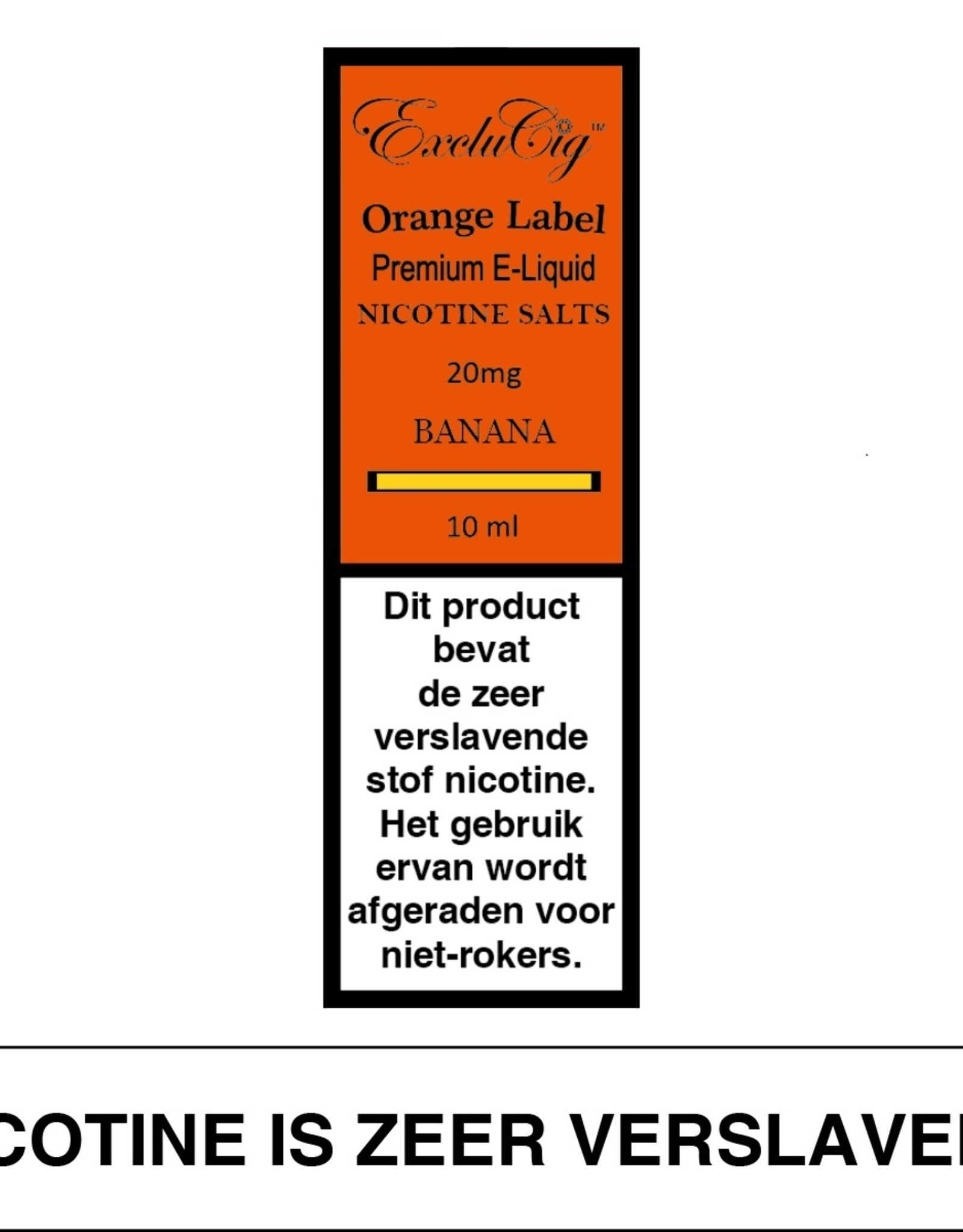 Exclucig Exclucig Orange Label E-liquid Banana 20 mg Nicotinezout