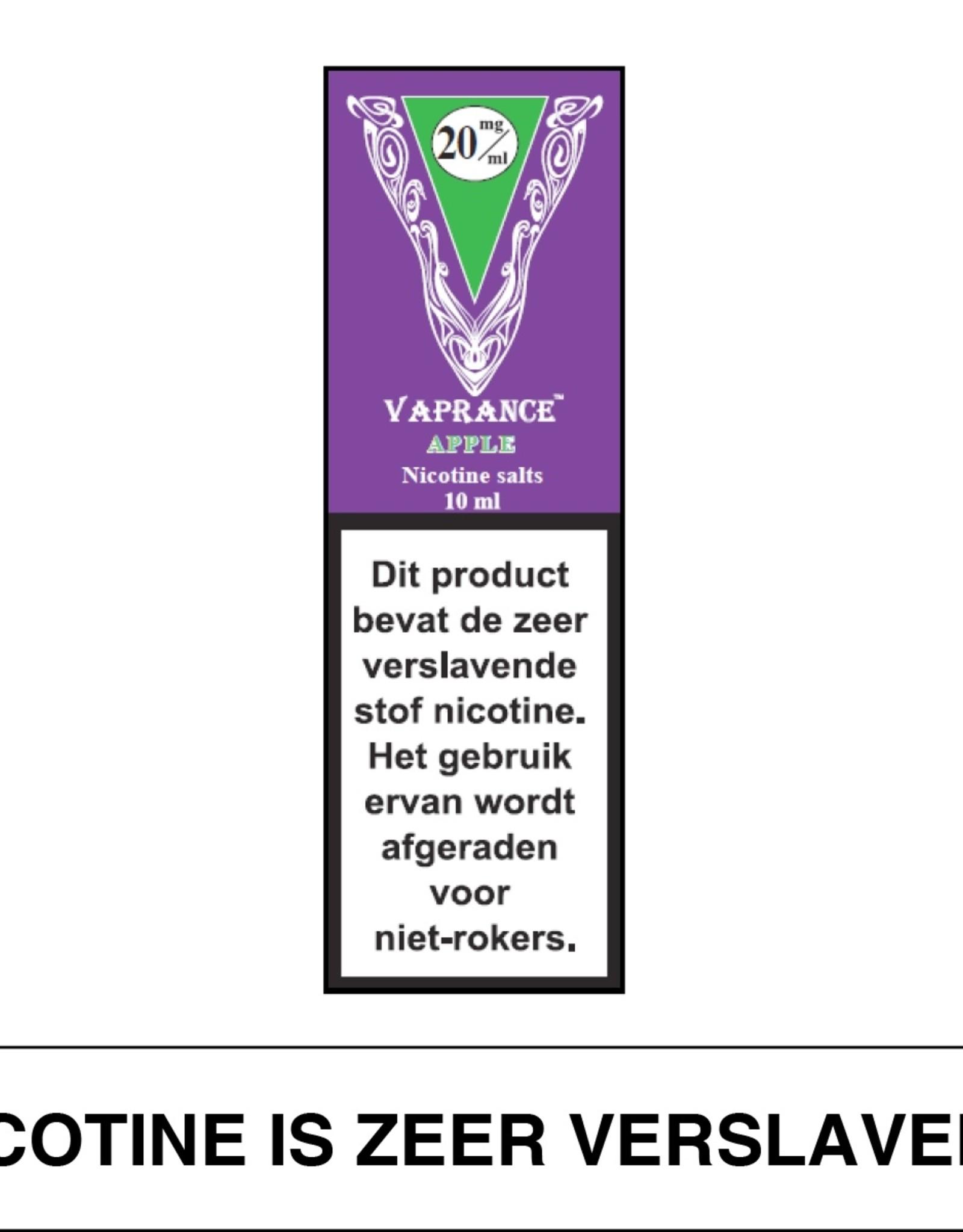 Vaprance Vaprance Purple Label E-liquid Apple 20 mg Nicotinezout