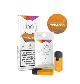 Bo Vaping Bo Vaping Caps Butterscotch Tobacco 8 mg Nicotine 2 stuks