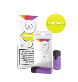 Bo Vaping Bo Vaping Caps Lemonade 16 mg Nicotine 2 stuks