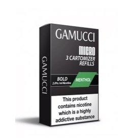 Gamucci Gamucci cartomizers Menthol Bold 20 mg Nicotine 3 stuks