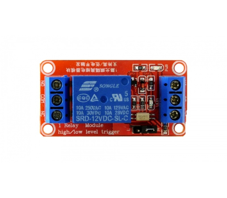 1 kanaals relais board hoog-laag 12v
