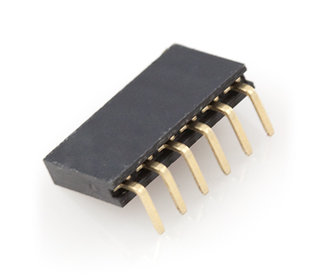 1 x 6 pins female header haaks 2.54
