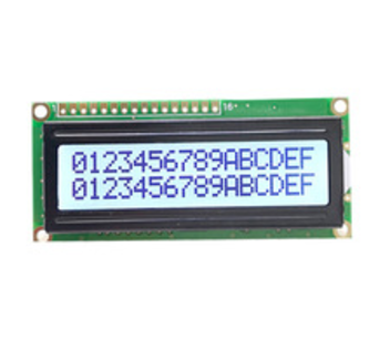 16 x 2 gray black LCD display