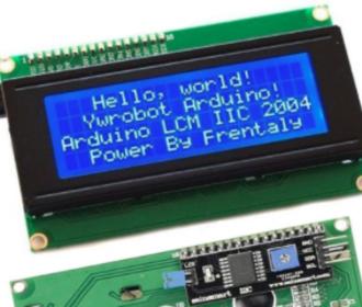 20 x 4 LCD + gemonteerde I2C adaptor module