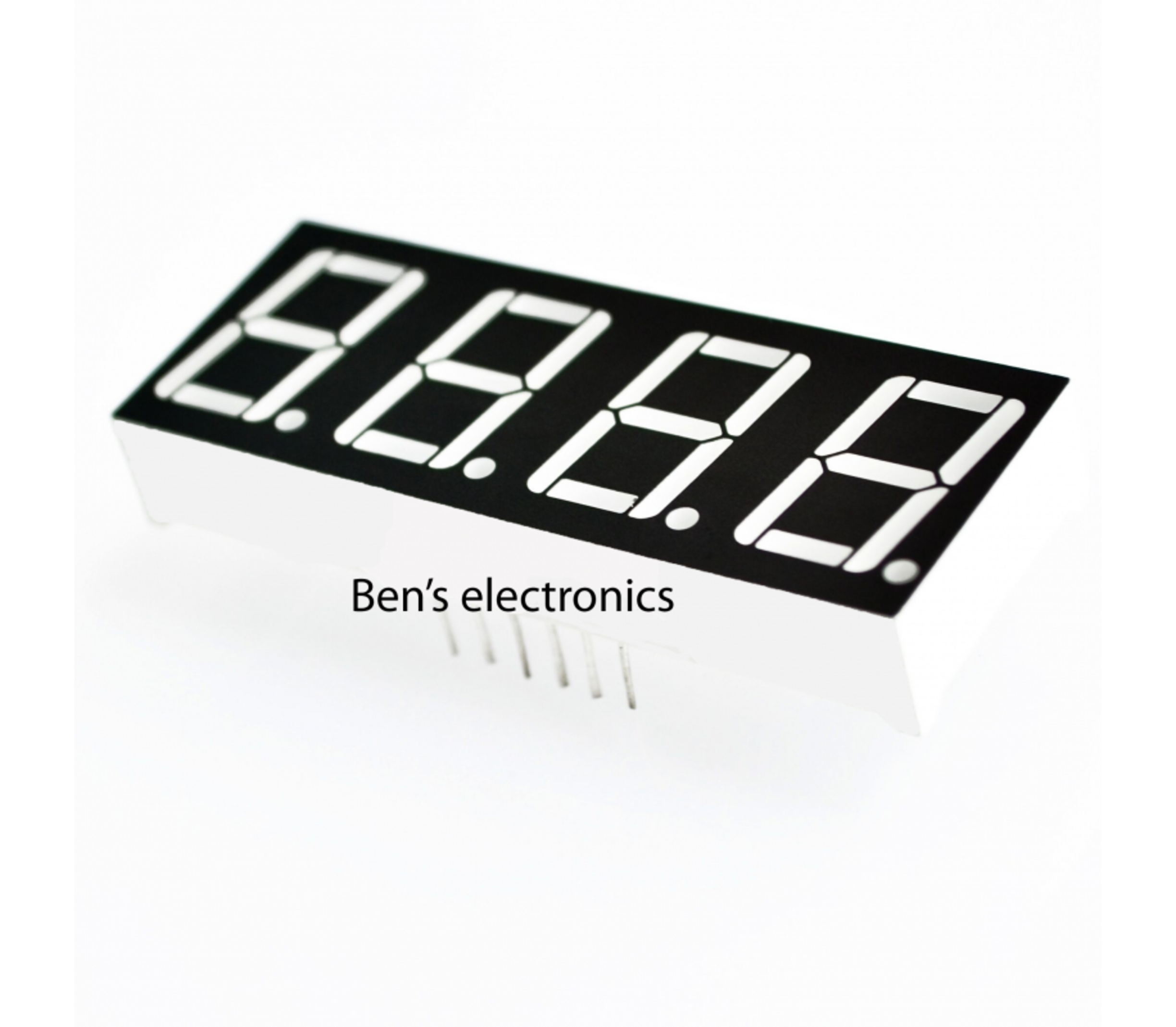 4 x 7 segments led display (rood) common Anode
