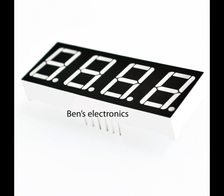4 x 7 segments led display (rood) common Cathode