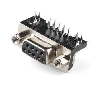 9 Pin D-sub female connector haaks pcb mount