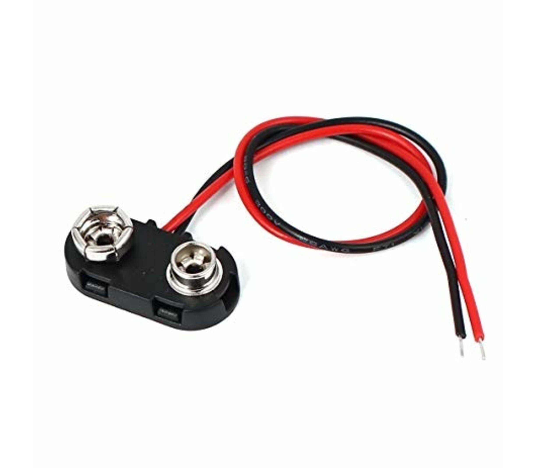 9v batterijclip 2 draads