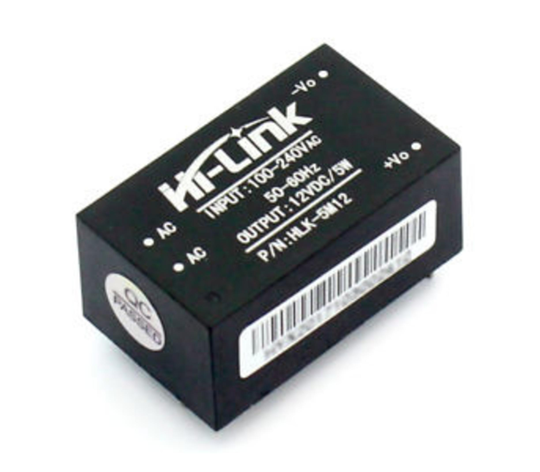 ac 100v-240v naar dc 5V 0.6A  transformator printmontage