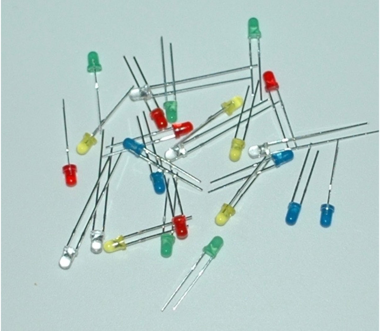 Assortiment (set) 3 mm leds 25 stuks