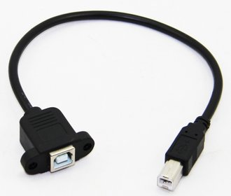 B Mount USB connector 0,5m
