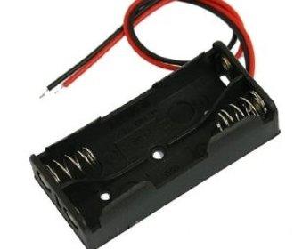 Batterij houder 2 x AA batterij
