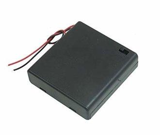 Batterij houder 4 x AA gesloten behuizing