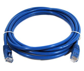 Cat5 netwerk kabel blauw 2 meter